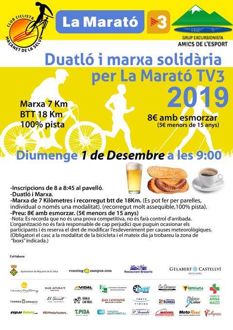 Duatló i marxa solidària per La Marató de TV3