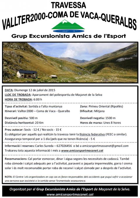 Travessa Vallter2000-Coma de Vaca-Queralbs (2015)