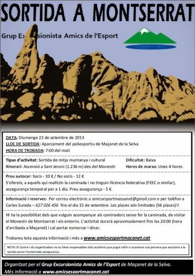 Sortida a Montserrat (2013)
